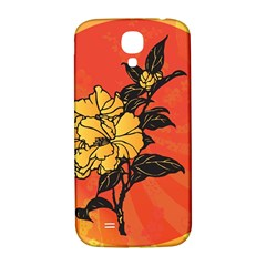 Vector Asian Flowers Samsung Galaxy S4 I9500/I9505  Hardshell Back Case