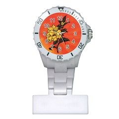 Vector Asian Flowers Plastic Nurses Watch