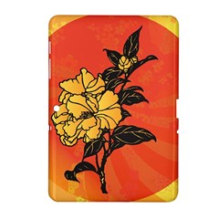 Vector Asian Flowers Samsung Galaxy Tab 2 (10.1 ) P5100 Hardshell Case