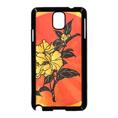 Vector Asian Flowers Samsung Galaxy Note 3 Neo Hardshell Case (Black)