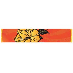 Vector Asian Flowers Flano Scarf (Large)