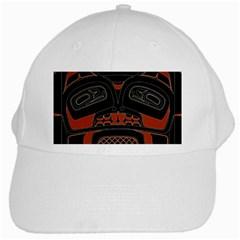 Traditional Northwest Coast Native Art White Cap