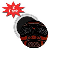 Traditional Northwest Coast Native Art 1.75  Magnets (10 pack)