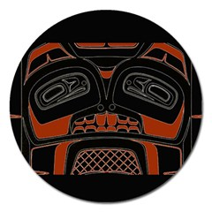 Traditional Northwest Coast Native Art Magnet 5  (Round)