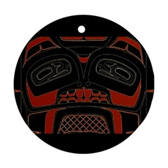 Traditional Northwest Coast Native Art Round Ornament (Two Sides)