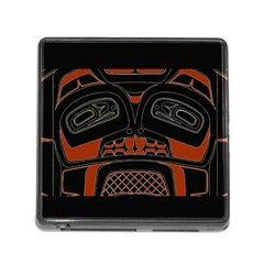 Traditional Northwest Coast Native Art Memory Card Reader (Square)