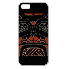 Traditional Northwest Coast Native Art Apple Seamless iPhone 5 Case (Clear)