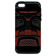 Traditional Northwest Coast Native Art Apple iPhone 5 Hardshell Case (PC+Silicone)