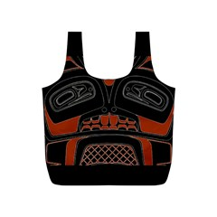 Traditional Northwest Coast Native Art Full Print Recycle Bags (S)