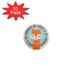 Foxy Fox Canvas Art Print Traditional 1  Mini Magnet (10 pack)