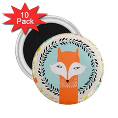Foxy Fox Canvas Art Print Traditional 2.25  Magnets (10 pack)