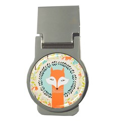 Foxy Fox Canvas Art Print Traditional Money Clips (Round)