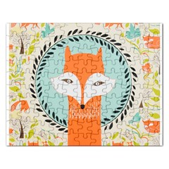 Foxy Fox Canvas Art Print Traditional Rectangular Jigsaw Puzzl