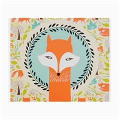 Foxy Fox Canvas Art Print Traditional Small Glasses Cloth