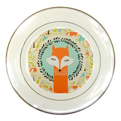 Foxy Fox Canvas Art Print Traditional Porcelain Plates