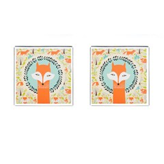 Foxy Fox Canvas Art Print Traditional Cufflinks (Square)