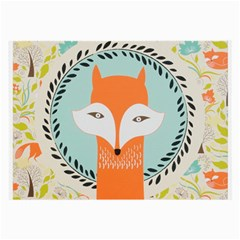 Foxy Fox Canvas Art Print Traditional Large Glasses Cloth (2-Side)