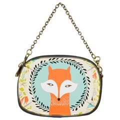 Foxy Fox Canvas Art Print Traditional Chain Purses (Two Sides)