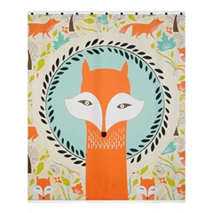 Foxy Fox Canvas Art Print Traditional Shower Curtain 60  x 72  (Medium)