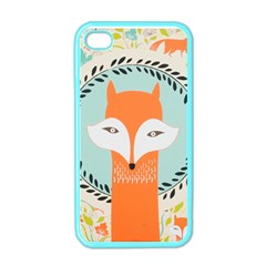 Foxy Fox Canvas Art Print Traditional Apple iPhone 4 Case (Color)