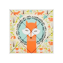 Foxy Fox Canvas Art Print Traditional Acrylic Tangram Puzzle (4  x 4 )