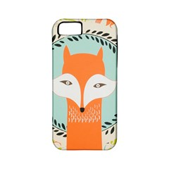 Foxy Fox Canvas Art Print Traditional Apple iPhone 5 Classic Hardshell Case (PC+Silicone)