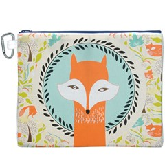Foxy Fox Canvas Art Print Traditional Canvas Cosmetic Bag (XXXL)