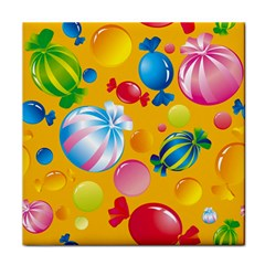 Sweets And Sugar Candies Vector  Tile Coasters