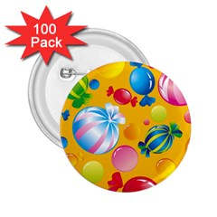 Sweets And Sugar Candies Vector  2.25  Buttons (100 pack)