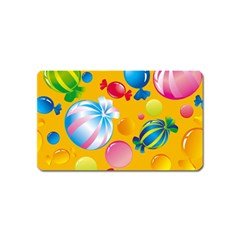 Sweets And Sugar Candies Vector  Magnet (Name Card)