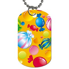 Sweets And Sugar Candies Vector  Dog Tag (One Side)