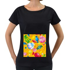 Sweets And Sugar Candies Vector  Women s Loose-Fit T-Shirt (Black)