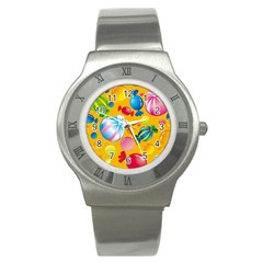 Sweets And Sugar Candies Vector  Stainless Steel Watch