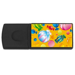Sweets And Sugar Candies Vector  USB Flash Drive Rectangular (4 GB)