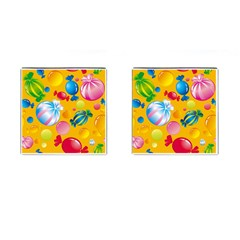 Sweets And Sugar Candies Vector  Cufflinks (Square)