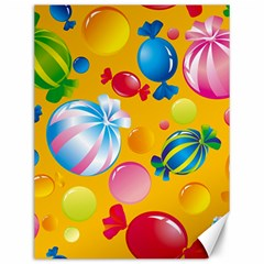 Sweets And Sugar Candies Vector  Canvas 12  x 16