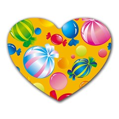 Sweets And Sugar Candies Vector  Heart Mousepads