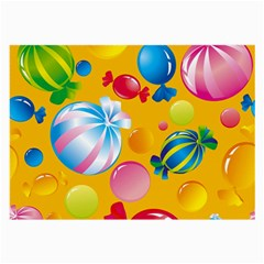 Sweets And Sugar Candies Vector  Large Glasses Cloth (2-Side)