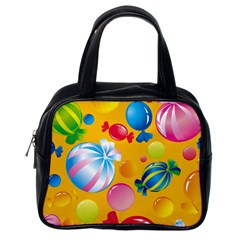 Sweets And Sugar Candies Vector  Classic Handbags (One Side)