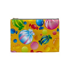 Sweets And Sugar Candies Vector  Cosmetic Bag (Medium)