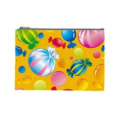 Sweets And Sugar Candies Vector  Cosmetic Bag (Large)