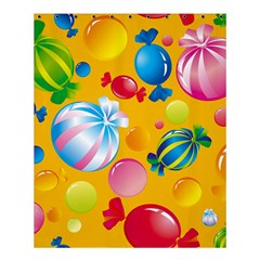 Sweets And Sugar Candies Vector  Shower Curtain 60  x 72  (Medium)