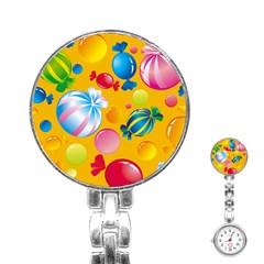 Sweets And Sugar Candies Vector  Stainless Steel Nurses Watch