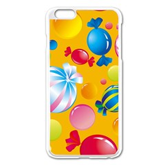 Sweets And Sugar Candies Vector  Apple iPhone 6 Plus/6S Plus Enamel White Case