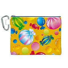 Sweets And Sugar Candies Vector  Canvas Cosmetic Bag (XL)