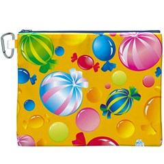 Sweets And Sugar Candies Vector  Canvas Cosmetic Bag (XXXL)