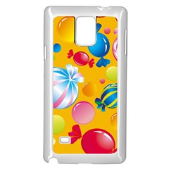 Sweets And Sugar Candies Vector  Samsung Galaxy Note 4 Case (White)