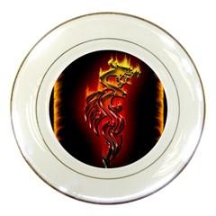 Dragon Fire Porcelain Plates