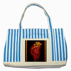 Dragon Fire Striped Blue Tote Bag