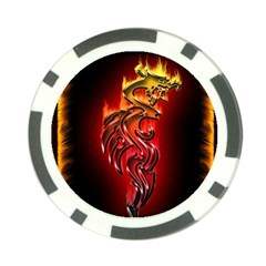 Dragon Fire Poker Chip Card Guard (10 pack)